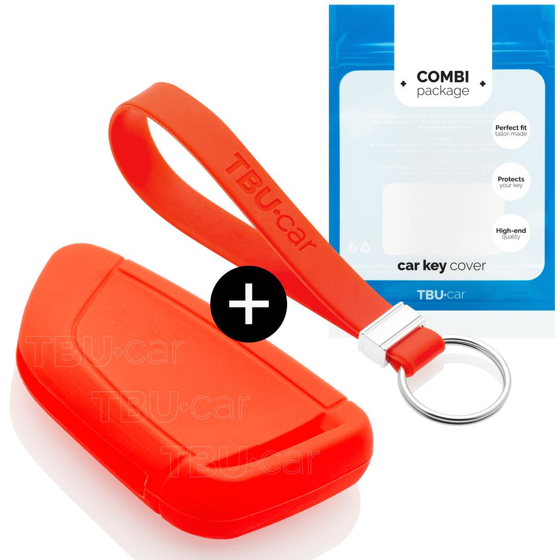 TBU car TBU car Sleutel cover compatibel met BMW - Silicone sleutelhoesje - beschermhoesje autosleutel - Rood