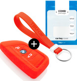 TBU car TBU car Funda Carcasa llave compatible con BMW - Funda de Silicona - Cover de Llave Coche - Rojo