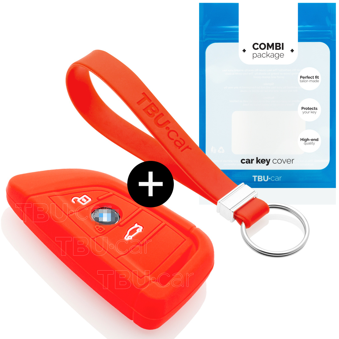 BMW Car key cover - Silicone Protective Remote Key Shell - FOB Case Cover - Red