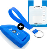 BMW Car key cover - Silicone Protective Remote Key Shell - FOB Case Cover - Blue