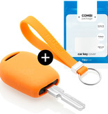 BMW Car key cover - Silicone Protective Remote Key Shell - FOB Case Cover - Orange