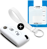 Citroën Car key cover - Silicone Protective Remote Key Shell - FOB Case Cover - White