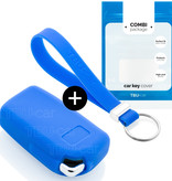 Citroën Car key cover - Silicone Protective Remote Key Shell - FOB Case Cover - Blue