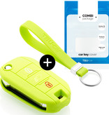 Citroën Car key cover - Silicone Protective Remote Key Shell - FOB Case Cover - Lime