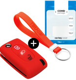 Citroën Car key cover - Silicone Protective Remote Key Shell - FOB Case Cover - Red