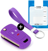TBU car TBU car Car key cover compatible with Chevrolet - Silicone Protective Remote Key Shell - FOB Case Cover - Purple