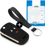 TBU car TBU car Sleutel cover compatibel met Chevrolet - Silicone sleutelhoesje - beschermhoesje autosleutel - Zwart