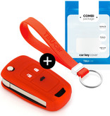 TBU car TBU car Car key cover compatible with Chevrolet - Silicone Protective Remote Key Shell - FOB Case Cover - Red