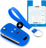 Chevrolet Car key cover - Silicone Protective Remote Key Shell - FOB Case Cover - Blue