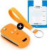 TBU·CAR Chevrolet Autoschlüssel Hülle - Silikon Schutzhülle - Schlüsselhülle Cover - Orange