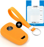 Chevrolet Car key cover - Silicone Protective Remote Key Shell - FOB Case Cover - Orange