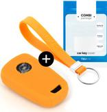 TBU car TBU car Sleutel cover compatibel met Chevrolet - Silicone sleutelhoesje - beschermhoesje autosleutel - Oranje