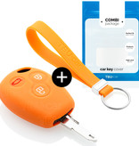 Dacia Car key cover - Silicone Protective Remote Key Shell - FOB Case Cover - Orange