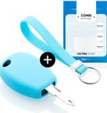 TBU car TBU car Car key cover compatible with Dacia - Silicone Protective Remote Key Shell - FOB Case Cover - Light Blue