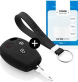 TBU car TBU car Sleutel cover compatibel met Dacia - Silicone sleutelhoesje - beschermhoesje autosleutel - Zwart