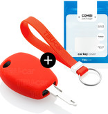 Dacia Car key cover - Silicone Protective Remote Key Shell - FOB Case Cover - Red