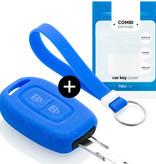 TBU car TBU car Autoschlüssel Hülle kompatibel mit Dacia 2 Tasten - Schutzhülle aus Silikon - Auto Schlüsselhülle Cover in Blau