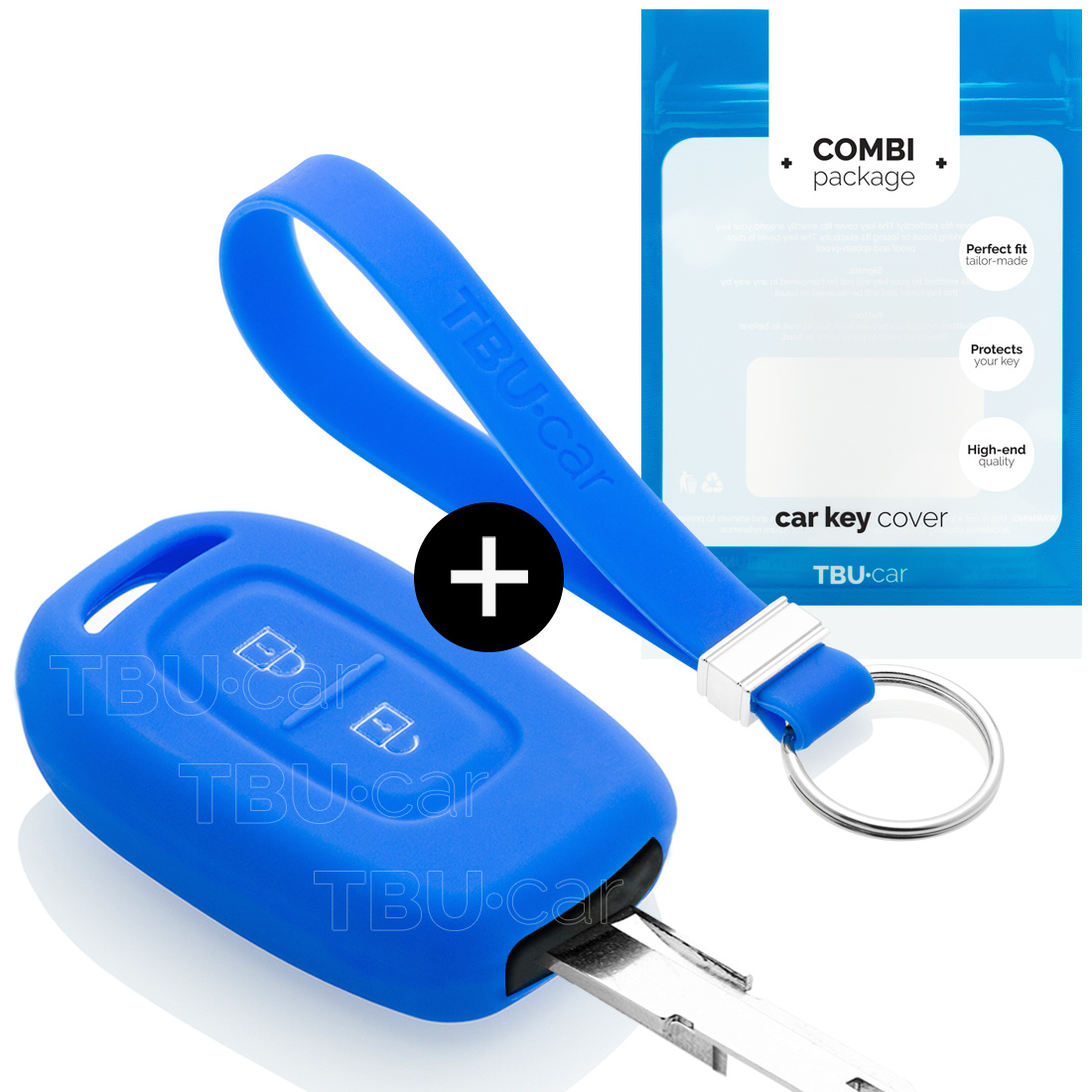 Dacia Car key cover - Silicone Protective Remote Key Shell - FOB Case Cover - Blue