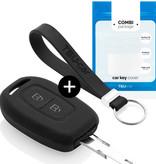 TBU car TBU car Car key cover compatible with Dacia - Silicone Protective Remote Key Shell - FOB Case Cover - Black