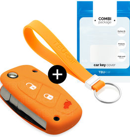 Fiat Car key cover - Orange