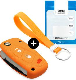 Fiat Schlüssel Hülle - Orange