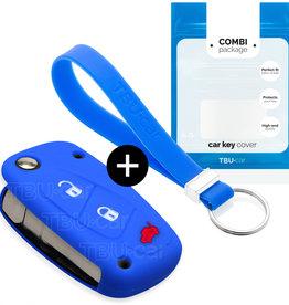 Fiat Car key cover - Blue