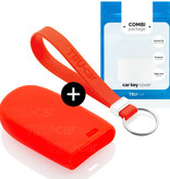 TBU·CAR Fiat Car key cover - Silicone Protective Remote Key Shell - FOB Case Cover - Red