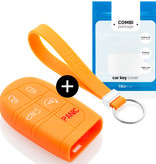Fiat Car key cover - Silicone Protective Remote Key Shell - FOB Case Cover - Orange