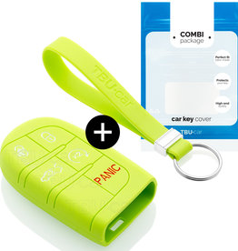 Fiat Schlüssel Hülle - Lindgrün