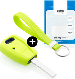 Fiat Car key cover - Silicone Protective Remote Key Shell - FOB Case Cover - Lime