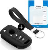 TBU car TBU car Sleutel cover compatibel met Fiat - Silicone sleutelhoesje - beschermhoesje autosleutel - Zwart