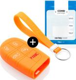 Jeep Autoschlüssel Hülle - Silikon Schutzhülle - Schlüsselhülle Cover - Orange