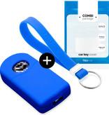 TBU car Autoschlüssel Hülle für Mazda 2 Tasten - Schutzhülle aus Silikon - Auto Schlüsselhülle Cover in Blau