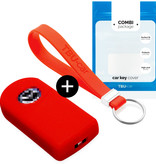 Mazda Car key cover - Silicone Protective Remote Key Shell - FOB Case Cover - Red