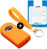 TBU car TBU car Sleutel cover compatibel met Mazda - Silicone sleutelhoesje - beschermhoesje autosleutel - Oranje