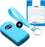 Mazda Car key cover - Silicone Protective Remote Key Shell - FOB Case Cover - Light Blue