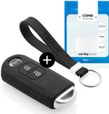 TBU car TBU car Sleutel cover compatibel met Mazda - Silicone sleutelhoesje - beschermhoesje autosleutel - Zwart