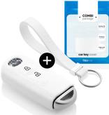 TBU car TBU car Sleutel cover compatibel met Mazda - Silicone sleutelhoesje - beschermhoesje autosleutel - Wit