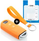 Mazda Car key cover - Silicone Protective Remote Key Shell - FOB Case Cover - Orange