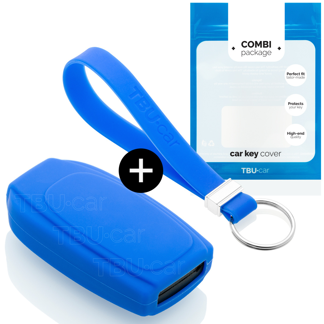 Volvo Car key cover - Silicone Protective Remote Key Shell - FOB Case Cover - Blue