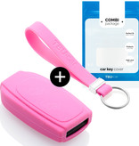 Volvo Car key cover - Silicone Protective Remote Key Shell - FOB Case Cover - Pink