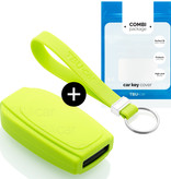 Volvo Car key cover - Silicone Protective Remote Key Shell - FOB Case Cover - Lime