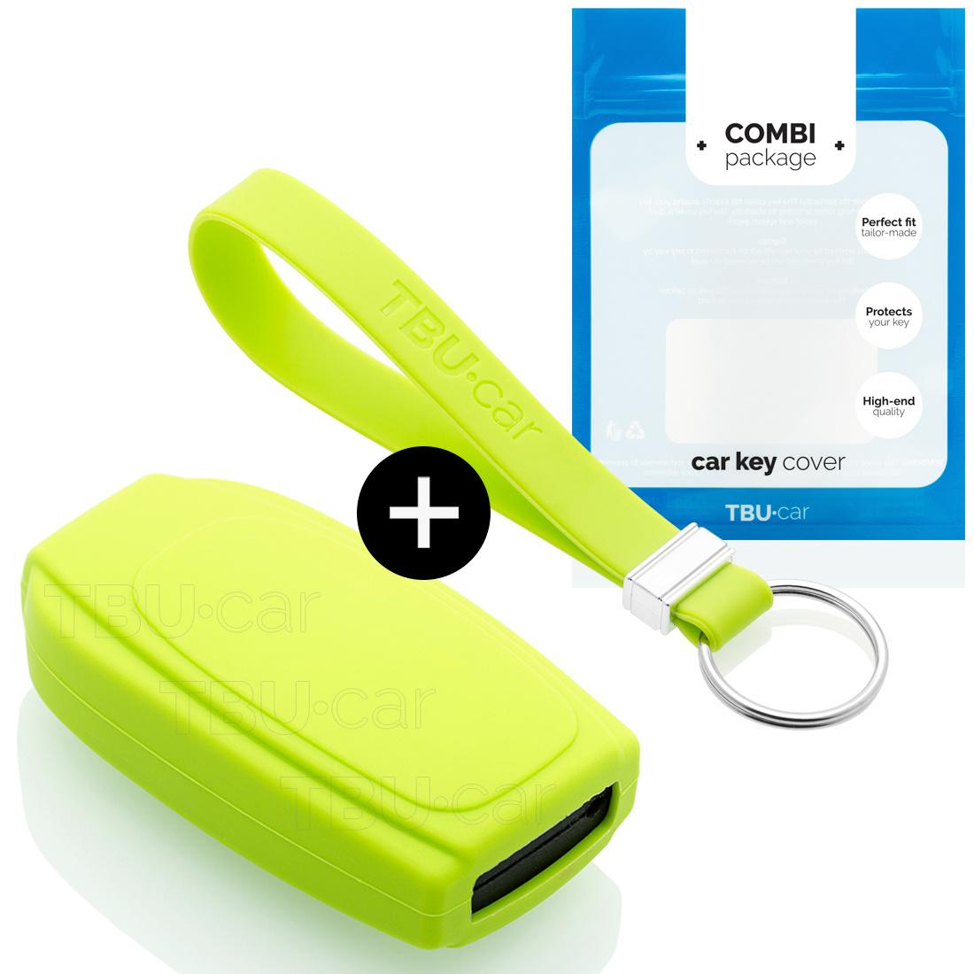 TBU car TBU car Sleutel cover compatibel met Volvo - Silicone sleutelhoesje - beschermhoesje autosleutel - Lime groen
