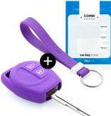 TBU car TBU car Sleutel cover compatibel met Suzuki - Silicone sleutelhoesje - beschermhoesje autosleutel - Paars