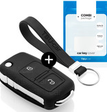 Volkswagen Car key cover - Silicone Protective Remote Key Shell - FOB Case Cover - Black