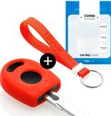 TBU car Autoschlüssel Hülle für Volkswagen Standardschlüssel - Schutzhülle aus Silikon - Auto Schlüsselhülle Cover in Rot