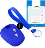 TBU car TBU car Autoschlüssel Hülle kompatibel mit Toyota 2 Tasten - Schutzhülle aus Silikon - Auto Schlüsselhülle Cover in Blau