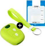 Toyota Car key cover - Silicone Protective Remote Key Shell - FOB Case Cover - Lime