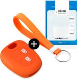 TBU car TBU car Sleutel cover compatibel met Toyota - Silicone sleutelhoesje - beschermhoesje autosleutel - Oranje