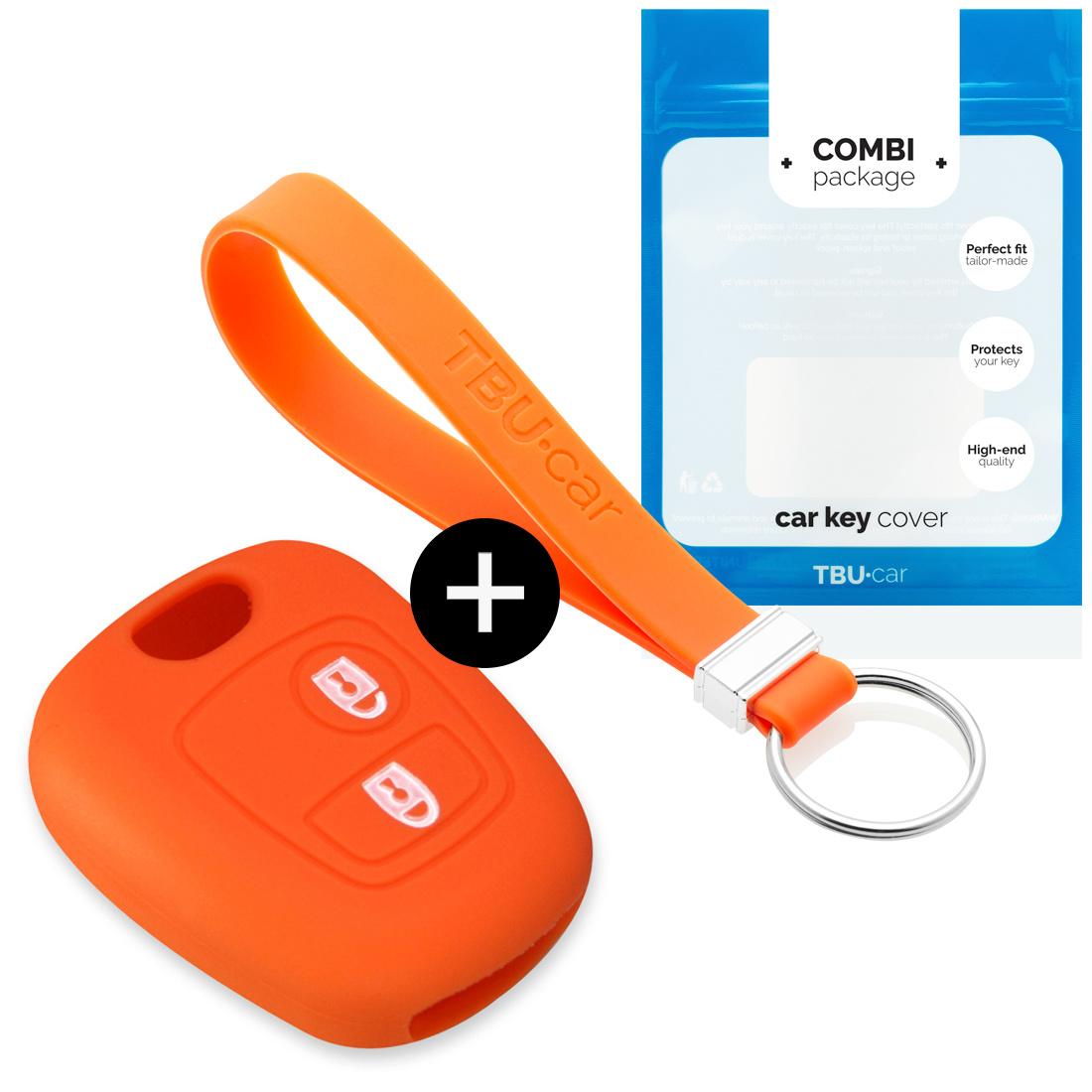TBU car TBU car Autoschlüssel Hülle kompatibel mit Toyota 2 Tasten - Schutzhülle aus Silikon - Auto Schlüsselhülle Cover in Orange